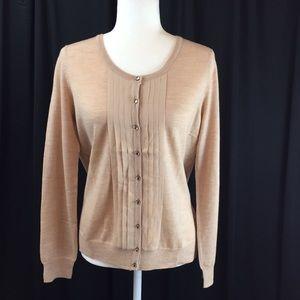 Talbots Italian Merino Wool & Silk Cardigan Medium